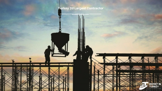 Turkey - the second largest contractor in the world
